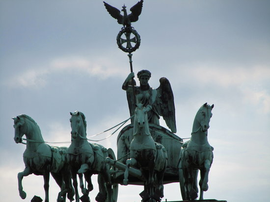 Berlin, Germany: Top of Brandenburg Gate