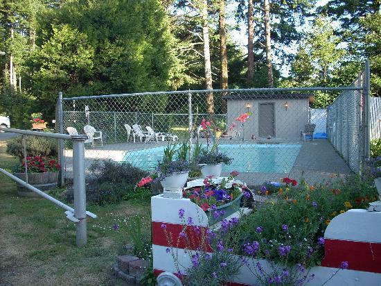 Bandon/Port Orford KOA: the pool and hot tub area.