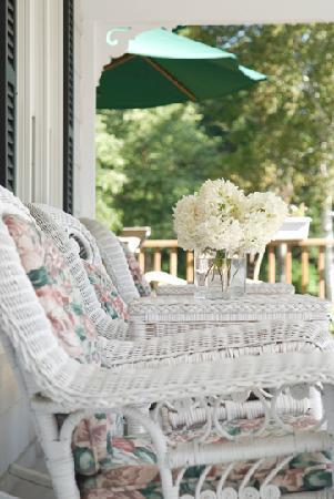 Schroon Lake Bed and Breakfast: Relax on our grand front porch