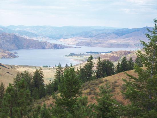 Elmer City, واشنطن: 20 min. drive down a steep winding road