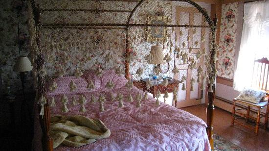 Stephen Daniels House: the wallpaper is ancient and peeling
