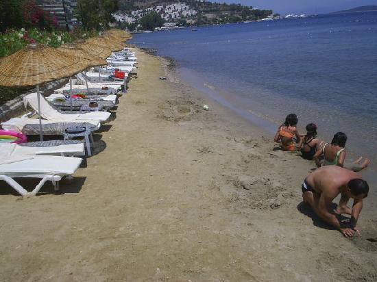 Hotel Baia Bodrum : la fammeuse plage de galets