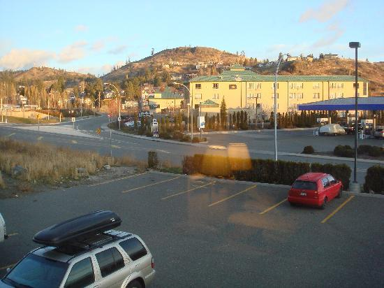 Super 8 Kamloops BC: View towards the Marriott
