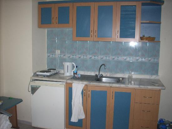 High Life Apartments: kitchen area in our room