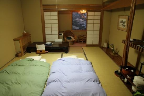 Sakoya: Our room ready for bed