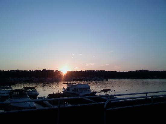 Saugatuck, MI: Sunset Over the Marina