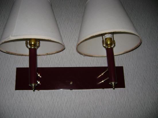Western Inn Downtown: mold on lampshades