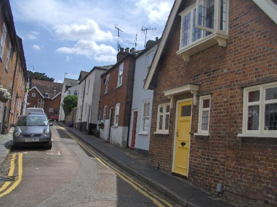 Сент-Олбанс, UK: ancient street, St. Albans