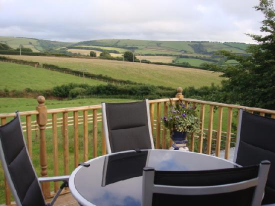 Higher Bodley Farm: The view from our terrace!
