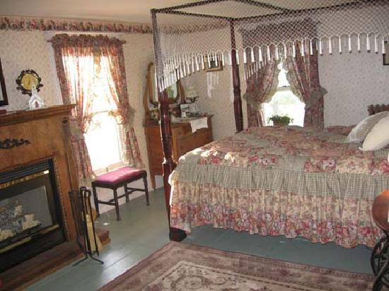 The Bella Ella Bed & Breakfast: Ella's suite with jet tub, flat screen t,.v, library dvds