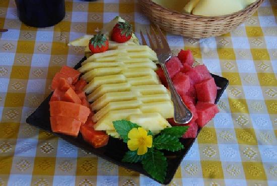 Villa Alegre - Bed and Breakfast on the Beach: Breakfast fruit