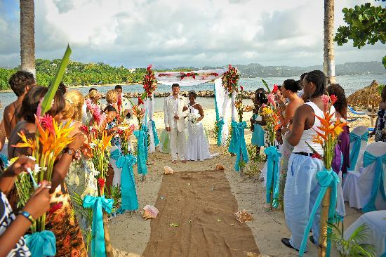 Windjammer Landing Villa Beach Resort Wedding