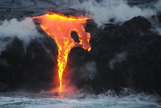 Pahoa, HI: Sunrise  Lava tour