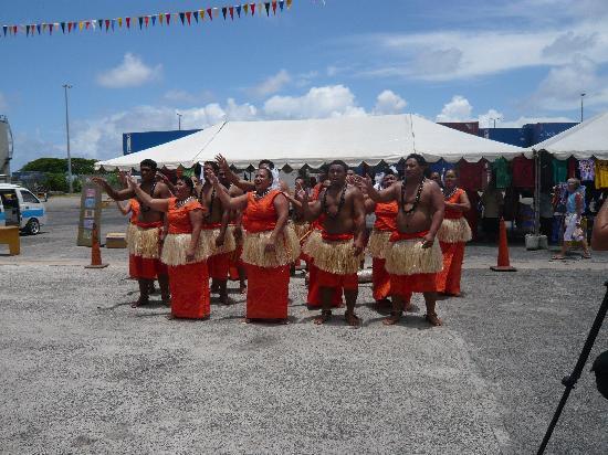 Begrüssung im Hafen von Apia, Insel Upolu, West Samoa
