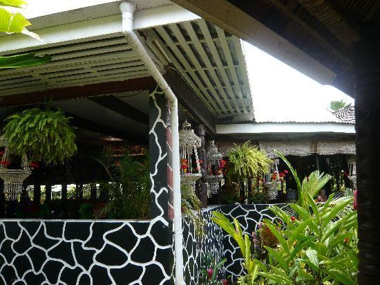 Apia, Samoa: Blick zum Restaurant in Aggie Grey's Hotel