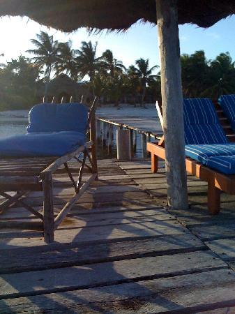 Playa Sonrisa : Pier with Palapa