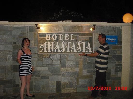 Anastasia Hotel: Hotel sign