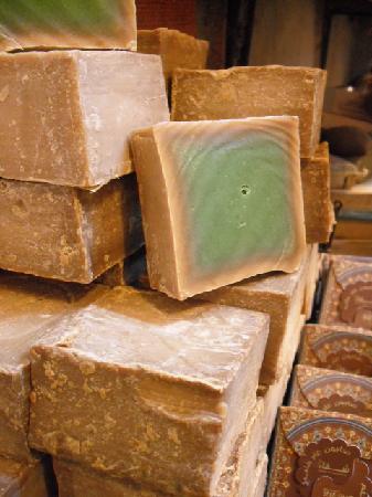 Aleppo Souk: Olive soap.