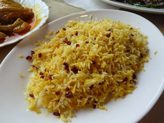 Alborz Restaurant: Tasty rice (part of 'Zereshk Polow with Chicken' menu)