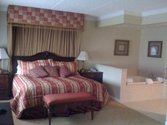 "Best Western Plus Franklin Square Inn Troy/Albany: ""Oversized room"" suite - bed area"