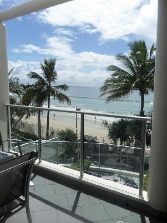 On The Beach Noosa: view from main balcony of pool/beach