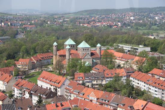 Hildesheim, Deutschland: Übersicht vom Kirchturm