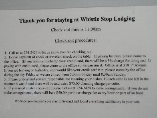 Whistle Stop Lodging: The information you may want to know before you book.