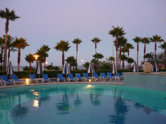 Hipotels  Mediterraneo : Pool unter Palmen