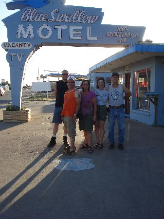 Blue Swallow Motel: Friends on our RT 66 Adventure at the Blue Swallow