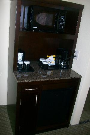 Hilton Garden Inn Charlotte/Ayrsley: Mini fridge/Microwave