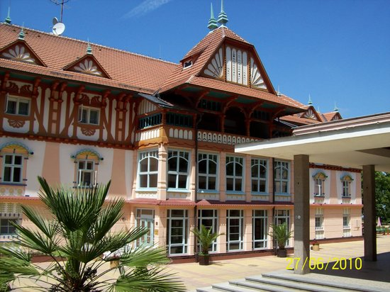 Luhacovice, Tschechien: Hotel building