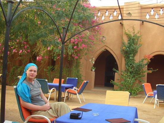 Agadez, ไนเจอร์: Innenhof des Hotels
