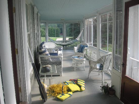 Swanton, Вермонт: Screened Porch