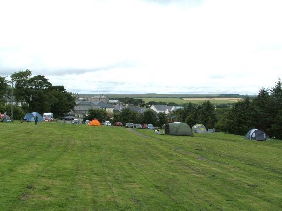 Plume of Feathers Inn: View across the Camping SIte