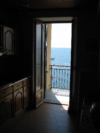 La Scogliera: View from Kitchen door