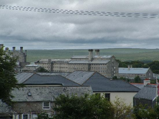 Plume of Feathers Inn: View across towards Dartmoor Prison