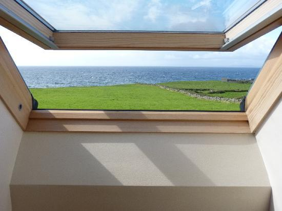 Fanore, Ireland: View from the bedroom window - daylight