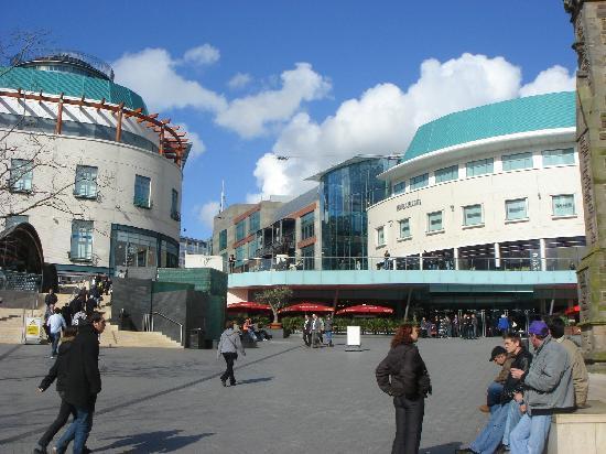 เบอร์มิงแฮม, UK: Blick auf den Bullring, Einkaufsbereich der Innenstadt