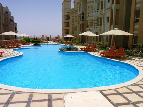 El Andalous Apartments : View to red sea