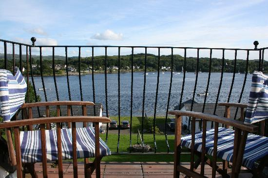 Lochnell Arms Hotel: The best part of the room was the lovely balcony