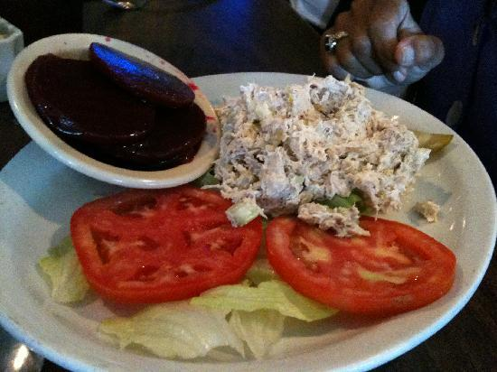 Track 1 Restaurant: Chicken salad lunch plate