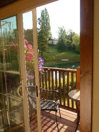 Duck Inn Lodge: Our private deck