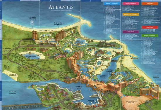 Map Of Atlantis Paradise Island Bahamas Picture Of