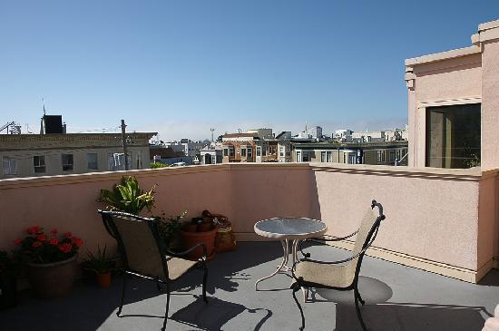 Buena Vista Motor Inn: Blick von der Dachterrasse