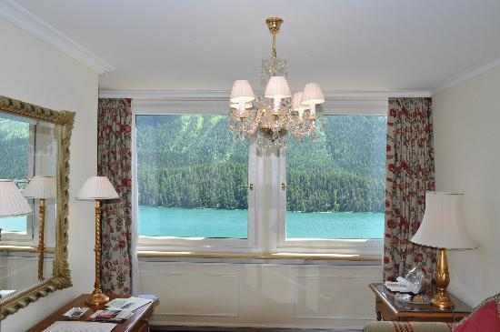 Badrutt's Palace Hotel : View out of the sitting room 711