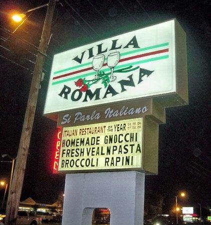 Villa Romana: Italian Restaurant of the Year several years in a row