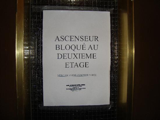 Hotel de Provence : ascensore