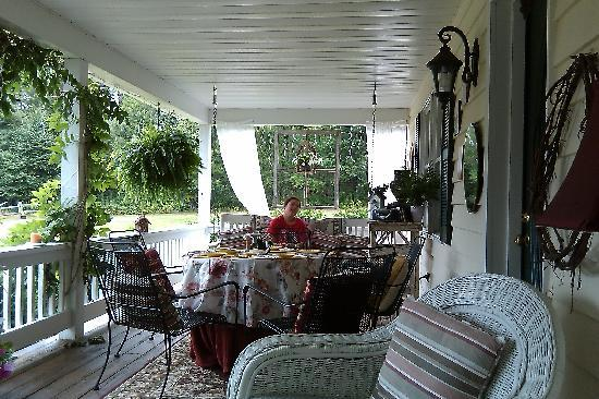 Bear Creek Crossing Bed & Breakfast : the front porch or the hammock in the back flower garden?  Tough decision.