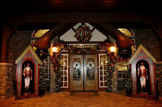 The Inn at Christmas Place: outside entrance