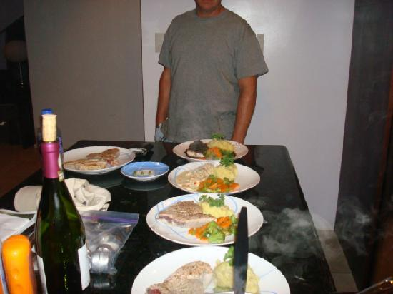 Paradise Breezes: Amazing dinner prepared by Wilbur, Private Chef